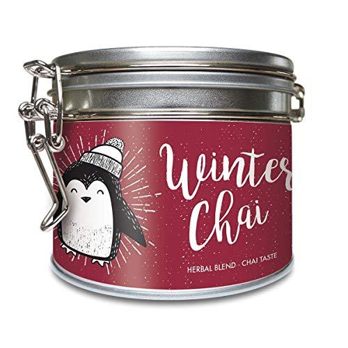 """""""Winter Chai"""" Chai Kräutermischung Bio Lose Dose ohne Aroma mit Zimt, Schwarzer Tee, Ingwer u. weiteren Zutaten – ca. 40 Tassen (100 Gramm) von alveus Premium Teas"""