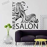 Peluquería y salón de belleza, calcomanía de pared, vinilo, pegatina de peluquería, arte, peluquería, peluquería global, póster de ventana, decoración