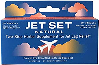 JET SET NATURAL, Jet Lag Relief & Prevention Pills   Sleep Specialist Created   Travel Immune Support   Jet to Relax & Boost Immunity   Set to Energize & Restore   Herbs, Vitamins & Minerals