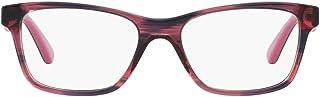 Vogue Eyewear Women's VO2787 Square Prescription Eyeglass Frames, Striped Black Cherry/Demo Lens, 53 mm