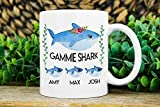 Keyboard cover Gammie Regalo Gammie Shark Mug Tazza Gammie Personalizzata Gammie Est 11oz Ceramic White Mug