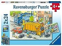 ラベンスバーガー (Ravensburger) ジグソーパズル 05096 3 はたらくトラック(24ピース×2)
