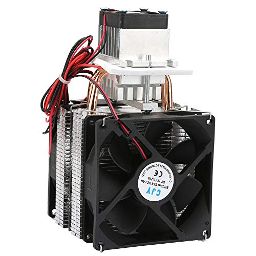 Durable Equipado con 2 Ventiladores Grandes y un Ventilador pequeño CN Plug 220V Refrigeración Kit de Bricolaje, Enfriador termoeléctrico, para Bricolaje Nevera pequeña para Mini Aire(#1)