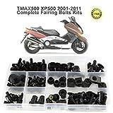 WONYAN Motocicleta Piezas For Yamaha Tmax 500 Tmax500 2001-2011 llena de la motocicleta de la cubierta del carenado Tornillos Kit completo Carenado lateral Tornillos clips de acero Nueces