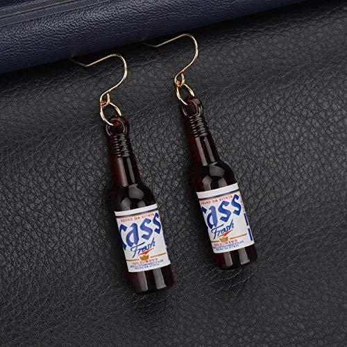 Erin Earring Persönlichkeit Shochu Bierflasche Student Weibliche Süße Ohrringe Weiblichen Schmuck