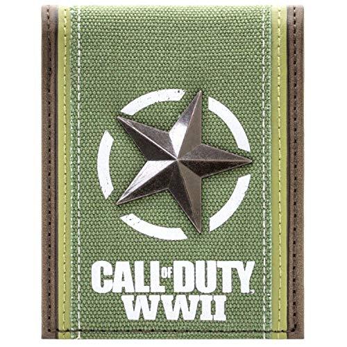 Cartera de Call of Duty Freedom estrella plateada Verde