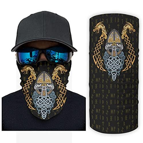 CCMugshop Bandanas vikingas Odin Dragón Celta Nudos Fathurk Print Sport Headwear Bandana transpirable White One Size