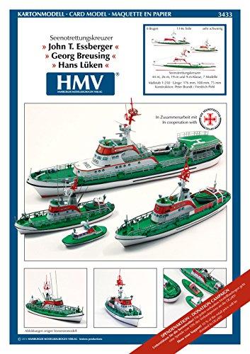 HMV 3433 Kartonmodell Seenotrettungskreuzer John T. Essberger, Georg Breusing und Hans Lüken