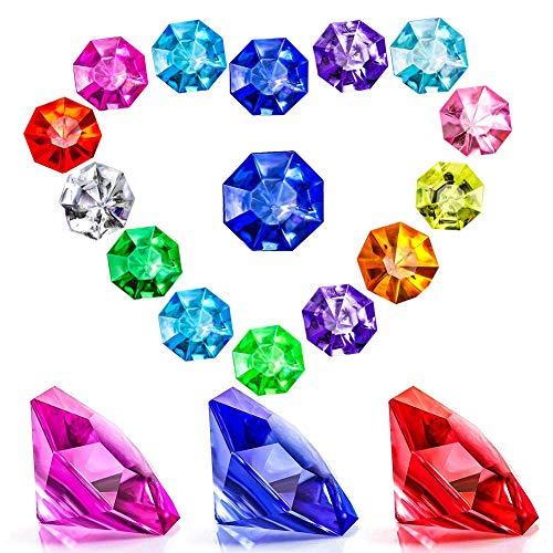 hugttt 70 stuks acryl diamant edelstenen juwelen piraat schatjuwelen voor tafel scatter, vaas vullers, evenement, bruiloft, partij favorieten
