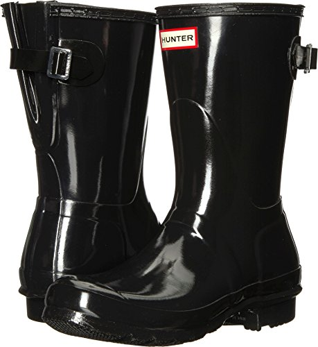 Hunter Mujer Original Back Adjustable Short Gloss Rubber Black Botas 37 EU