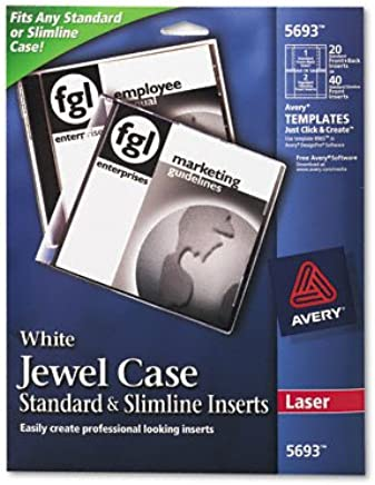 Amazon.com: AVE5693 - Avery Laser CD/DVD Jewel Case Inserts ...