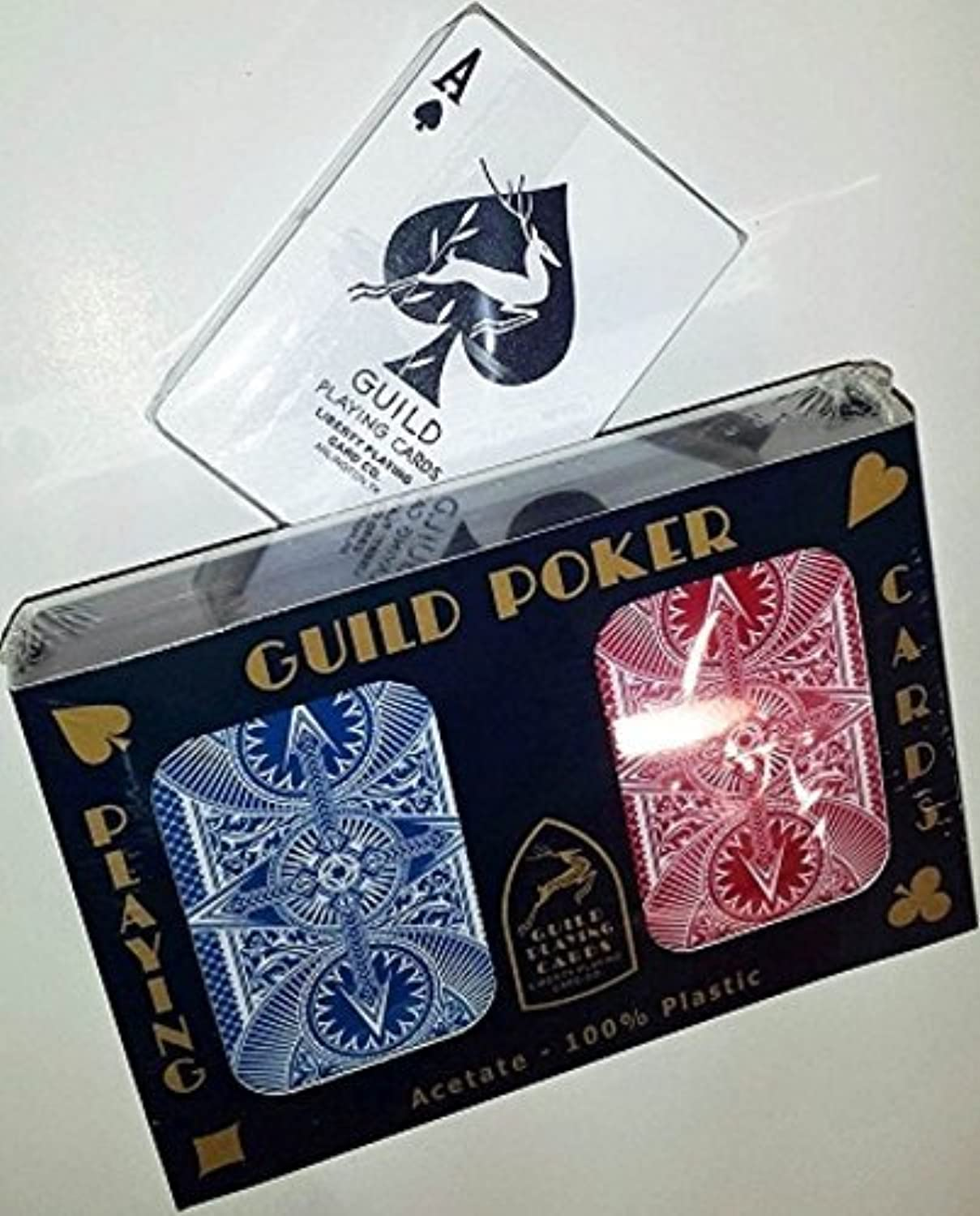 Guild Arc and Arrow Red & blueee Poker Standard Index Playing Cards Plastic