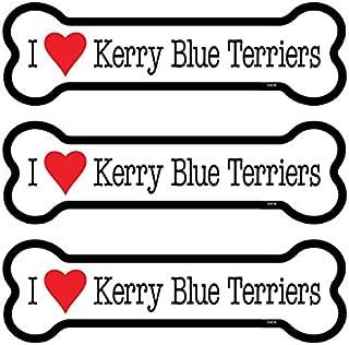 "SJT ENTERPRISES, INC. Kerry Blue Terriers 3-Pack of 2 x 7"" Bone Shaped Car Magnets (SJT25416)"