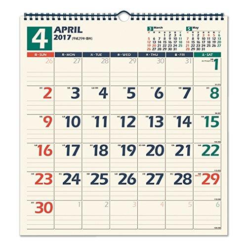 『能率 NOLTY 2017年 カレンダー 壁掛け20 C127』のトップ画像