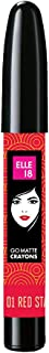 Elle 18 Go Matte Lip Crayons, 01 Red Stay, 2.2 g