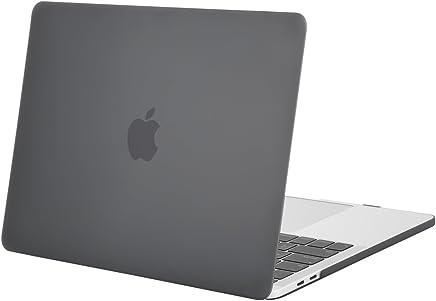 MOSISO Funda Dura Compatible 2019 2018 2017 2016 MacBook Pro 13 con/sin Touch Bar A1989 A1706 A1708 USB-C, Ultra Delgado Carcasa Rígida Protector de Plástico Cubierta, Gris