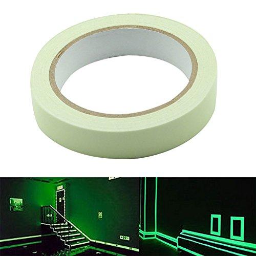 Delaman® Leuchtendes Klebeband Markierungsband Glow in The Dark Selbstklebend Anti-Rutsch Wasserdicht (Size : 15mm*3m)