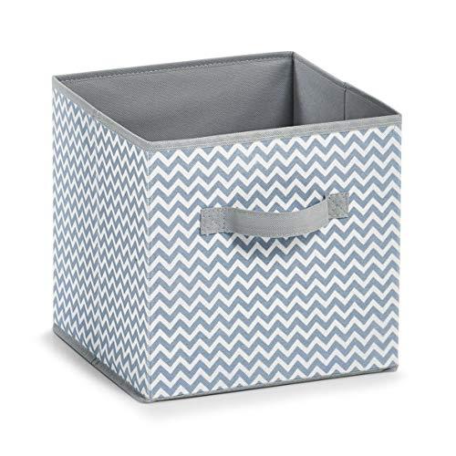 Zeller 14621 Aufbewahrungsbox, Vlies, weiß/grau, ca. 26 x 26 x 26 cm