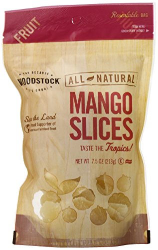 Woodstock All-Natural Mango Slices, Low Sugar, 7.5 Ounce