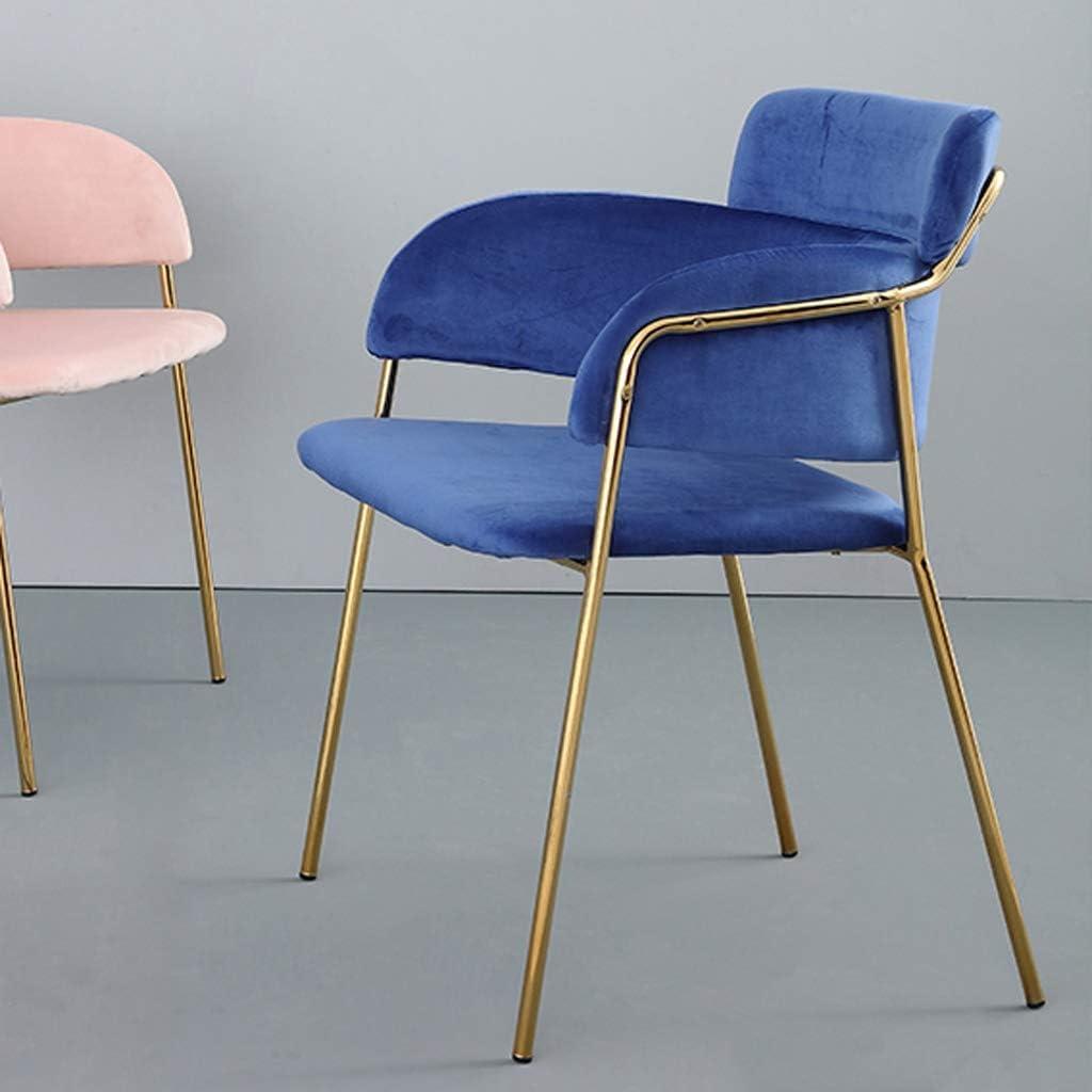 HXF- Chaise de salle à manger, chaise de bureau simple, dossier créatif, chaise de loisirs, chaise de salle à manger pour adulte durable (couleur : bleu) Bleu