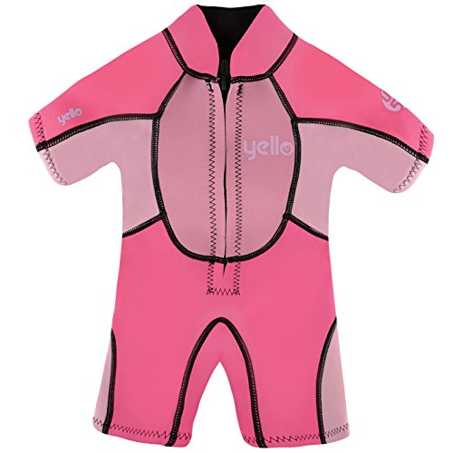 Yello Sandbar Infant Shorty UPF 50 Plus Traje húmedo, niña, Rosa, 4 años