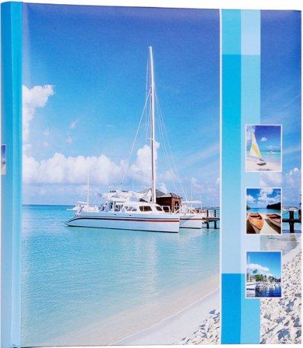 Quantio HENZO Jumbo Fotoalbum Schiff - 100 Seiten für bis zu 600 Fotos - Bilderalbum - Jumboalbum - Album - Urlausalbum