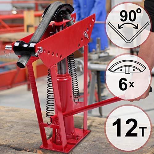 Cintreuse Hydraulique - Pression de Pressage 12 Tonnes, avec 6 Matrices Différentes, pour Tuyaux Ayant un...