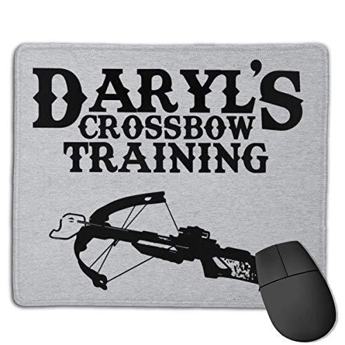 Daryls Armbrust Training Kundenspezifische Designs Rutschfeste Gummibasis Gaming Mauspads für, 22 cm & mal; 18 cm, PC, Computer. Ideal zum Arbeiten oder Spielen