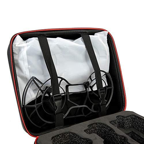 DJFEI Tasche für DJI Mini 2, Tragbare Tragetasche für DJI Mavic Mini 2 Drohne und Fernbedienung Zubehör, Tragbare PU/Nylon Hart Handtasche wasserdichte für DJI Mini 2 (PU Material)