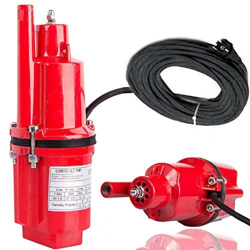 Prieser Aluminuim Wasserpumpe Ø 98 mm Tauchpumpe Membranpumpe Brunnenpumpe Gartenpumpe mit Schutzlack