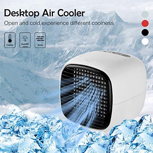 Skxinn Tragbare Klimaanlage, persönlicher Luftkühler - 2-in-1-Mini-USB-Klimaanlage, Luftreiniger, Desktop-Lüfter mit 2 Geschwindigkeiten Office Home Room Sommerschlussverkauf (Weiß)