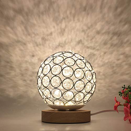 Mesita de Noche proyector de Estrella romántica luz de Noche Creativa Regalo de cumpleaños INS atenuación Guita Bola Bola de ratán lámpara de Mesa sueño