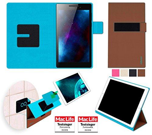 Hülle für Lenovo Tab 2 A7-10 Tasche Cover Case Bumper | in Braun | Testsieger