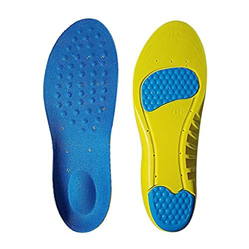 GYZX Mujeres Hombres Gel Plantillas Deportivas Amortiguador PU Que Funciona Cojín de Baloncesto Insertar Pad Externo sobre Sole para LA FASTISIONES PLANTARIOS (Color : Yellow, Size : L (EU 42-44))
