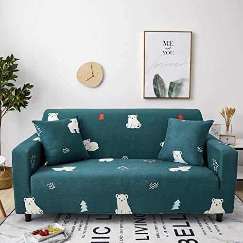 Allenger Funda Sofa Elastica Protector Adaptable,Funda de sofá elástica Estampada de Primavera, Verano, otoño e Invierno, Funda de sofá Todo Incluido Antideslizante y a Prueba de polvo-25_145-185cm