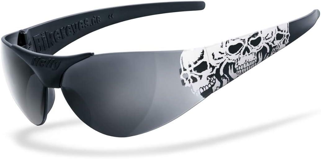 Helly Bikereyes Moab 4 Triple Skull Sonnenbrille Schwarz Weiß Auto