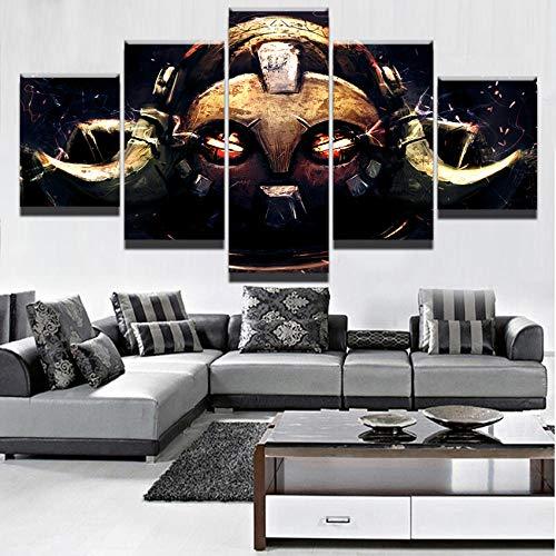 chgznb Cuadro sobre Lienzo Juego de 5 Piezas póster Orisa Overwatch Foto hogar o Dormitorio decoración Lienzo Impreso Pintura