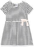 Petit Bateau Mädchen 5283801 Kleid, Mehrfarbig (Marshmallow/Smoking Bek), 6-12 Monate (Herstellergröße: 12Monate)