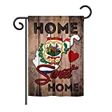 """Ornament Collection State West Virginia Home Sweet Home - Americana States Decoration - 13"""" x 18.5"""" Impressions Garden Flag US Made"""