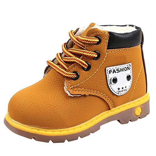 WEXCV Unisex Baby Jungen Mädchen Schuhe Kinder Sneaker Stiefel Herbst Winter Winddicht Schnee Stiefel Warm Sportschuhe Verdicken Booties Kinder Anti-Rutsch Plüsch Freizeitschuhe 24-28.5