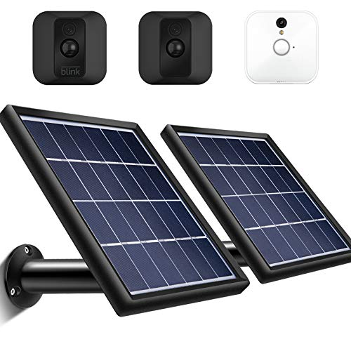 2 Pieces Solar Panel Compatible with Blink XT XT2 Outdoor/Indoor Security Camera,...