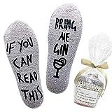 Belloxis Divertidos calcetines para mujer con texto en alemán 'Wenn Du Das Les' Calcetines de ginebra. 36-42