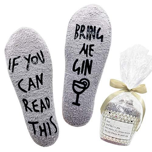 Belloxis Lustige Socken Damen Gin Geschenk Wenn Du Das Lesen Kannst Socken