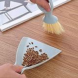 Set paletta e spazzole, Mini scopa e paletta in plastica, Set per la pulizia del Desktop, BLU