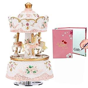 LOVE FOR YOU Carousel Horse Music Box Musical Unicorn for Girls Women Mom Kids Baby Daughter Granddaughter Child… 5