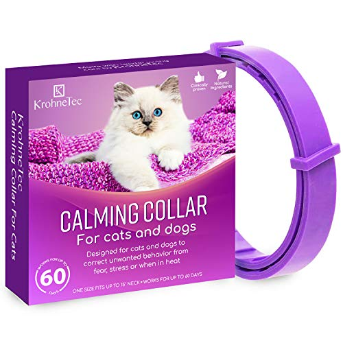 KrohneTec Calming Collar for Cats, Anxiety Relief Cat Collars, Pheromone and...
