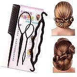 Labra la herramienta 4pcs / set de pelo profesional del pelo del trenzado Accesorios Cola de caballo Secador de pelo Bun al Kit Para Todos los tipos de cabello, pelo de la manera, tipo de hogar