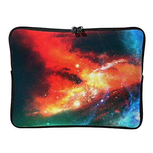 5 tamaños bolsas de ordenador portátil patrón expandible – Nebulosa Tablet manga adecuada para exteriores, blanco (Blanco) - BTJC88-DNB-8
