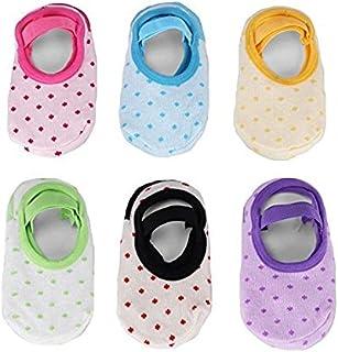 6 Pares Calcetines Socks Antideslizantes Niñas Niños Bebe Tobilleros de Colores Original