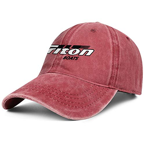 Vintage Washed Cap Triton-Boats-Decal-Sticker-Logo- Red Pattern Unisex Flat Adjustable Hat